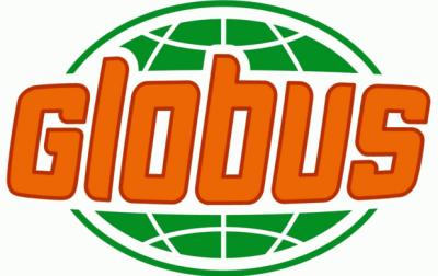 Logo Globus - pro Risolino, rýžové těstoviny s úsměvem
